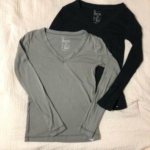 2 GAP Long Sleeve Tee Shirts